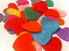 MINI FELT HEARTS Clothes Applique table confetti - 20mm/0.8 - set of 20 mix