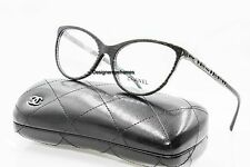 CHANEL 3303B 1443 Sparkly Black Bijou Cateye 55mm Rx Eyeglasses NWT AUTH