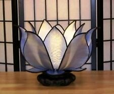 Hand Made Gorgeous Silk Blooming Lotus Flower Table or Hanging Light 8 color