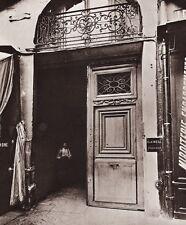 1890/1963 Vintage 11x14 PARIS STREET Business Man France Photo Art EUGENE ATGET