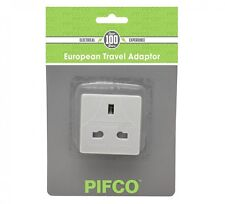 UK To EU Euro European Travel Adaptor Plug 2 Pin Adapter - 1 Plugs PIFCO brand