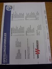 14/10/2016 Colour Teamsheet: Den Bosch v Cambuur. Thanks for viewing our item, i