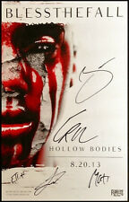 BLESSTHEFALL Hollow Bodies 2013 Ltd Ed Signed By All 5 Members New RARE Poster!