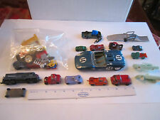 COLLECTION OF VTG. DIECAST CARS - METAL & PLASTIC - UNSEARCHED - LOT 5 - TUB RRR