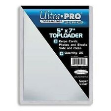 """Ultra Pro Toploader (5"""" x 7"""") - Pack of 25 5x7 Photo Postcard Protector Top Load"""