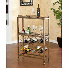 JWR71502 METAL ANTIQUE BRONZE WINE STORAGE BAR