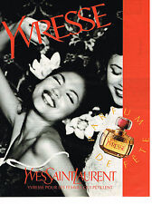 PUBLICITE ADVERTISING 094  1996  YVES SAINT LAURENT  parfum YVRESSE