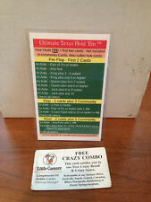 Large Ultimate Texas Hold em Strategy Card