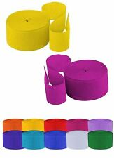 Fun Machine 10 Crepe Streamers Paper Decoration Party Mulitcolour pack of 10