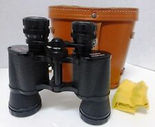 Vintage Korvette 8x40 Wide Angle Binoculars - Coated Optics & Leather Case