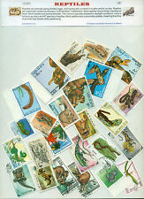 Reptiles (25Different Large)-STAMP PACKET