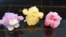 """Ganz 4"""" Lil Fuzzy Pals Set of 3 Lamb, Chick and Bunny  HE9965  FREE US SHIPPING"""