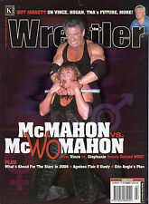 WWE MAGAZINE THE WRESTLER MARCH 2004 WCW WWF VINCE & STEPHANIE MCMAHON COVER