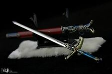 Rare 1/6 Scale Sword Of King Arthur Holy Grail Victory Metal Sword Weapon