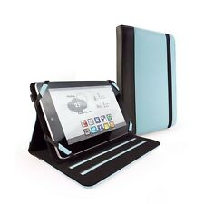 Tuff-Luv Faux Leather Case Cover for Nexus 7 Memo Pad 7 lenovo idea - Blue