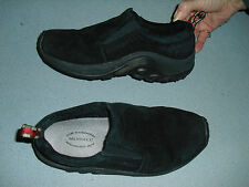 Merrell misses slip on shoes Sz 7.5 black suede leather