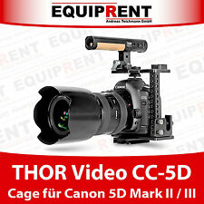 THOR Video CC-5D Cage mit 15mm Rod Support für Canon EOS 5D Mark II / III EQT22