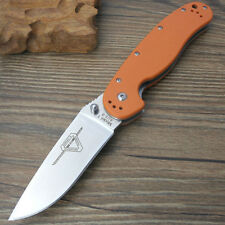 B001401 Ontario RAT1 Folding Training Pocket Knife AUS-8 Blade Orange G10 Handle