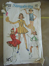 Simplicity 7937 Cheerleader/Skating/Majorette Costume Pattern - Size 7/8 Bust 29