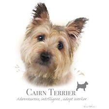 CAIRN TERRIER  DOG with Phrase on ONE Fabric Panel for Quilting & Sewing