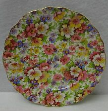 "KENT, JAMES England DUBARRY pattern Bread Plate - 6-1/2"" chintz"