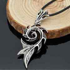 Men Titanium Retro Flame Dragon Men Necklace & Pendant