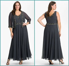 Plus Size Knee Length Mother Of The Bride Long Dresses Woman Formal Party Gown