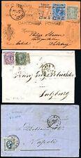 Italia 1860-1918 cinque delle lettere molto belle con 15i, 65 etc (s7414