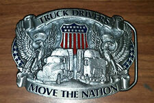 Belt Buckle Truck Drivers Move the Nation Pewter 1987 NEW  1826 American Buckle
