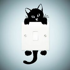 FD3742 Home Decor Craft Black Cat Stickers Bedroom Toilet Wall DIY Sticker 1pc ^
