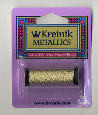 Kreinik Metallic Thread - 12 Yard Spool of #3232 Brazilianite Very Fine #4 Braid