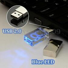 LED 64 G GO GB Cristal CLE USB 2.0 Mémoire Flash Drive Storage Stick Disk Cadeau