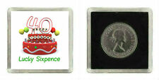 LUCKY SILVER SIXPENCE COIN 40TH BIRTHDAY FEMALE MALE GIFT PRESENT KEEPSAKE