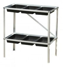 Budget Greenhouse Staging Seed Tray Frame two tier