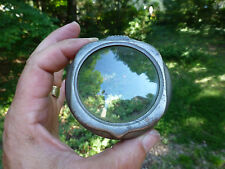"Antique Automobile Cowl Light Bezel and Glass Lens  3"" wide"