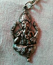 GANESH GOD GANAPATHI KEYCHAIN GIFT METAL KEY RING GANESHA HINDU RELIGIOUS GOD