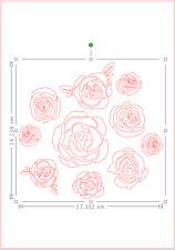 Rose Bouquet Mazzo A4 MYLAR riutilizzabile Stencil AEROGRAFO PITTURA ARTE Craft