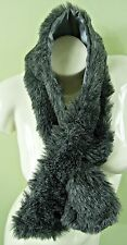MID GREY FAKE FUR WARM COLLAR / SCARF / NECK WRAP, LA065