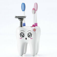 Lovely 4 Holes Tooth Style Cartoon Design Kid Bathroom Toothbrush Holder Hot