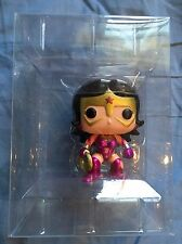 FUNKO POP STAR SAPPHIRE METALLIC WONDER WOMAN #61 FUGITIVE EXCLUSIVE NO BOX