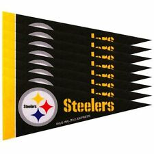 "Pittsburgh Steelers 4"" x 9"" Mini Pennant Banner Flag Fan Cave Decor 8 Pack Set"