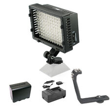Pro 12 LED video light F970 batt for Canon EOS 7D Mark II 2 SX60 HS SL1 1D X 5D