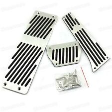3Pcs AT Brake Foot Rest Pedals Plate for BMW 1 Series X1 Z4 E87 E84 E90 E46