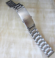 MEN 22mm LUXURY HEAVY SOLID BRUSHED STAINLESS STEEL WATCH BAND,BRACELET + PINS