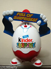 KINDER SURPRISE EGG FERRERO EMPTY 9'' BOX TOY CONTAINER FIGURE FULL OF SURPRISES