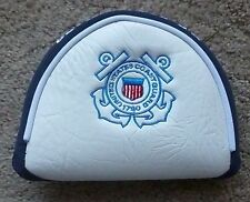 United States Coast Guard 1790 USA Mallet Putter Golf Head Cover ~ Embroidered
