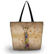 Hot Giraffe Women Beach Tote Shoulder Bag Purse Handbag Travel School Bag