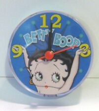 "BETTY BOOP CLOCK Magnetic for Locker, Office,  3"" Round Uses 1 AA Battery NEW"