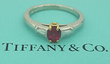 0.55ct Tiffany & Co. 18k & Platinum Ruby & Diamond Engagement / Fashion Ring