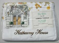 Vintage Hathaway House TWIN FLAT Sheet PERCALE Florial Shabby Cottage FLORAL